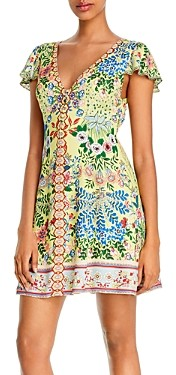 Alice + Olivia Hadley Button-Front Flare Dress