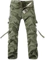 Gaok Men's Casual Military CARGO Camo Combat Work Pants Trousers