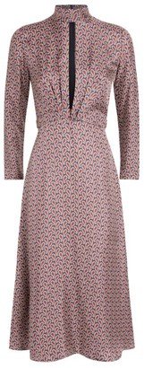 Sandro Silk Paisley Print Dress