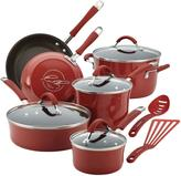 Rachael Ray Cucina 12-Piece Cranberry Red Cookware Set with Lids