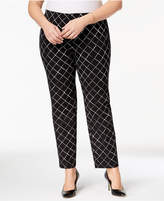 Alfani Plus Size Printed Slim Pants, Created for Macy's