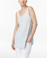 Eileen Fisher Stretch Silk Jersey Tunic Tank Top, Regular & Petite