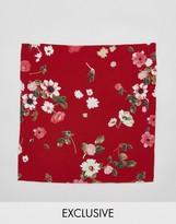 Reclaimed Vintage Inspired Pocket Square In Floral Print