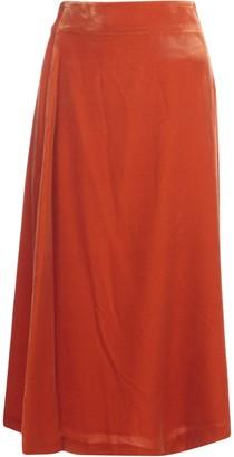 Aspesi Velevt A Line Long Skirt