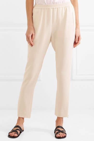 Stella McCartney Tamara Stretch-crepe Track Pants - Ecru