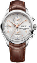 Baume & Mercier Men's Swiss Automatic Chronograph Clifton Brown Alligator Leather Strap Watch 43mm M0A10129