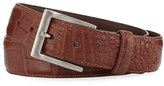 W.KLEINBERG Matte Alligator Belt with Interchangeable Buckles