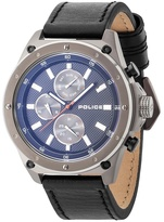 Police Contact Multifunction Strap Watch