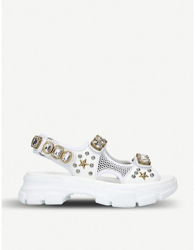 769dd05da7b Gucci Crystal Embellished Women s Sandals - ShopStyle