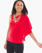 Chico's Ruffled One-Shoulder Top