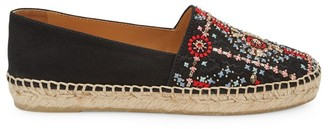Miu Miu Embroidered Canvas Espadrilles