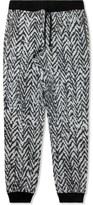 Kris Van Assche KRISVANASSCHE Black Fleece Elastic Waistband Sweatpants