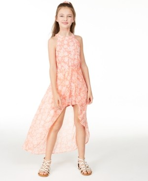 Epic Threads Big Girls High-Neck Printed Walkthrough Romper, Created for Macy's