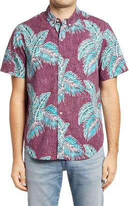 Reyn Spooner Rainforest Trail Slim Fit Short Sleeve Button-Down Shirt