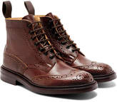 Tricker's Stow Burnished-leather Brogue Boots - Brown