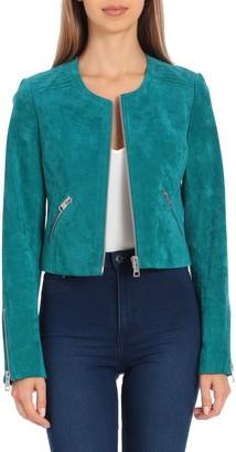 Bagatelle NYC Genuine Suede Cropped Jacket
