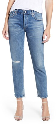 Citizens of Humanity Emerson Ripped Slim Fit Boyfriend Jeans
