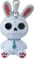 Summit Furry Bones Skull White Bunny Bun Bun Pendant Jewelry Accessory