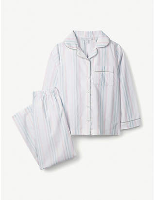 The Little White Company Sparkle Stripe cotton pyjamas