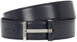 Tom Ford Leather Logo Buckle Belt