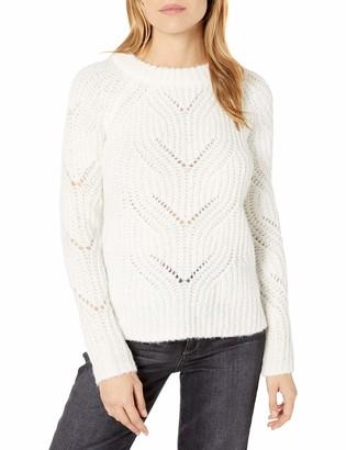Kensie Women's Twisted Fuzzy Yarn Sweater