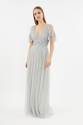 Coast Cold Shoulder Scattered Embellished Maxi Dress