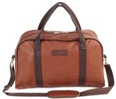 Constellation Faux Leather Holdall - Chocolate