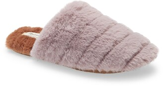 Madewell Recycled Faux Fur Quilted Scuff Slipper