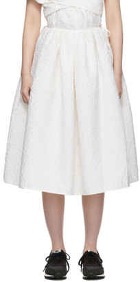 Cecilie Bahnsen SSENSE Exclusive White Sibyl Skirt