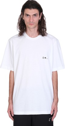 Oamc Flux T-shirt In White Cotton
