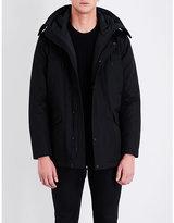 Sandro Hooded Cotton-drill Coat