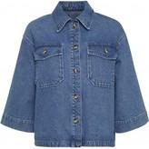Norr Official - Lara Denim Shirt - XS (34-36) | cotton | light sky blue