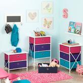 RiverRidge Kids Sort and Store Kids 2-Bin Organizer in Pink and Purple