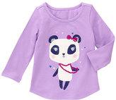 Gymboree Purple & White Panda Glitter Top - Infant & Toddler