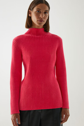 Cos Organic Cotton Ribbed Chenille Sweater