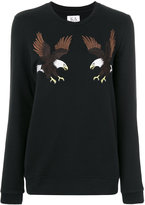 Zoe Karssen eagle patches longsleeved T-shirt - women - Cotton/Polyester - XS