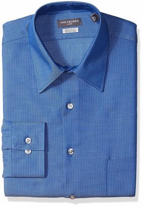 Van Heusen Men's Dress Shirt Regular Fit Flex Collar Stretch Stripe