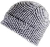 Black Light Grey Cashmere Beanie Hat
