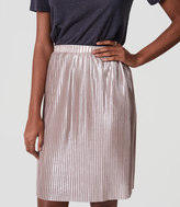 LOFT Shimmer Pleated Skirt