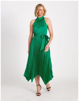 Collection Halter Neck Capri Pleat Dress