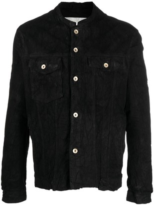 Giorgio Brato Distressed-Effect Suede Leather Jacket