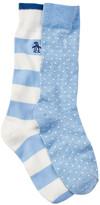 Original Penguin Blue Multi Socks - Pack of 2