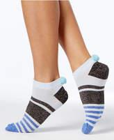 Hue HUEandreg; Women's Metallic and Pom-Pom No-Show Socks