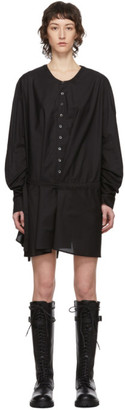 Ann Demeulemeester SSENSE Exclusive Black Belted Shirt Dress