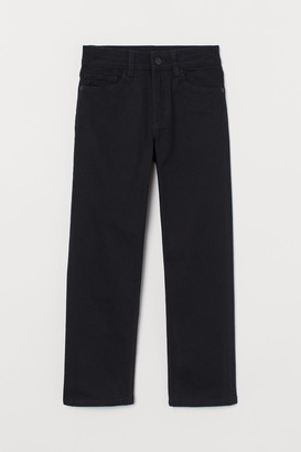 H&M Straight Fit twill trousers