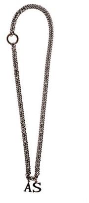 Art School Logo-pendant Wheat-chain Necklace - Silver