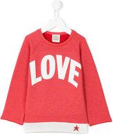 Douuod Kids - love print Sweatshirt - kids - Cotton/Polyester - 2 yrs
