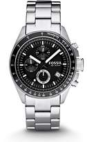 Fossil Men's Decker Chronograph Stainless Steel Dial Watch Black CH2600
