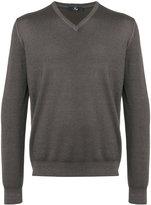 Fay V-neck knitted jumper