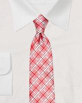 Le Château Silk Check Print Tie